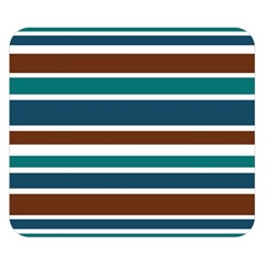 Teal Brown Stripes Double Sided Flano Blanket (small)  by BrightVibesDesign