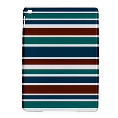 Teal Brown Stripes Ipad Air 2 Hardshell Cases by BrightVibesDesign