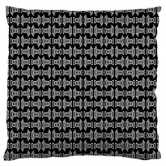 Black White Tiki Pattern Large Cushion Case (two Sides) by BrightVibesDesign