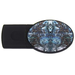 Lost In The Mirror  USB Flash Drive Oval (2 GB)  by CrypticFragmentsDesign