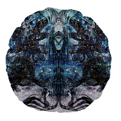 Lost In The Mirror  Large 18  Premium Flano Round Cushions by CrypticFragmentsDesign