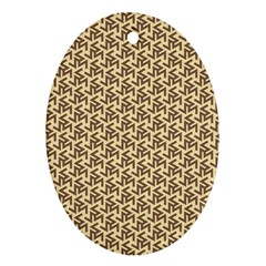 Braided Pattern Oval Ornament (two Sides) by TastefulDesigns