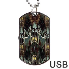 Urban Industrial Rust Grunge Dog Tag USB Flash (Two Sides)  by CrypticFragmentsDesign