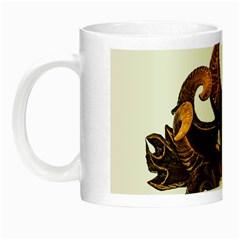 Demon Tribal Mask Night Luminous Mugs by dflcprints