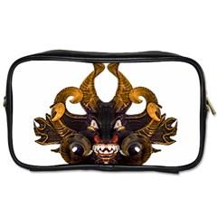 Demon Tribal Mask Toiletries Bags 2 Side by dflcprints