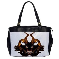 Demon Tribal Mask Office Handbags by dflcprints