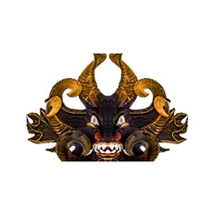Demon Tribal Mask You Are Invited 3d Greeting Card (8x4)  by dflcprints