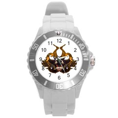 Demon Tribal Mask Round Plastic Sport Watch (l) by dflcprints