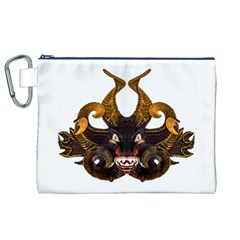 Demon Tribal Mask Canvas Cosmetic Bag (xl)  by dflcprints