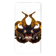 Demon Tribal Mask Galaxy Note 4 Back Case by dflcprints