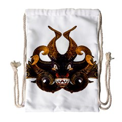 Demon Tribal Mask Drawstring Bag (large) by dflcprints