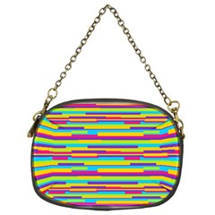 Colorful Stripes Background Chain Purses (two Sides)  by TastefulDesigns