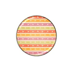 Watercolor Stripes Background With Stars Hat Clip Ball Marker (10 pack) by TastefulDesigns