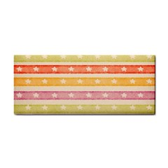 Watercolor Stripes Background With Stars Hand Towel by TastefulDesigns
