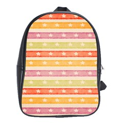 Watercolor Stripes Background With Stars School Bags (xl)  by TastefulDesigns