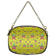 Flower Power Stars Chain Purses (two Sides)  by pepitasart