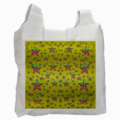Flower Power Stars Recycle Bag (one Side) by pepitasart