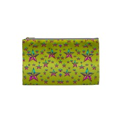 Flower Power Stars Cosmetic Bag (small)  by pepitasart