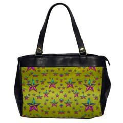 Flower Power Stars Office Handbags by pepitasart