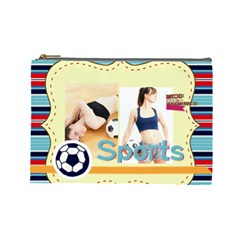 Sport Theme By Sport   Cosmetic Bag (large)   H3vzquoud41v   Www Artscow Com Front