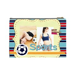 Sport Theme By Sport   Cosmetic Bag (large)   H3vzquoud41v   Www Artscow Com Back