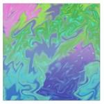 Green Blue Pink Color Splash Large Satin Scarf (Square)
