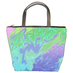 Green Blue Pink Color Splash Bucket Bags by BrightVibesDesign