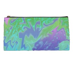 Green Blue Pink Color Splash Pencil Cases by BrightVibesDesign