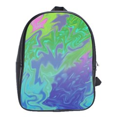Green Blue Pink Color Splash School Bags(large)  by BrightVibesDesign