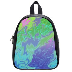 Green Blue Pink Color Splash School Bags (small)  by BrightVibesDesign