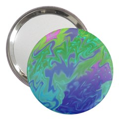 Green Blue Pink Color Splash 3  Handbag Mirrors by BrightVibesDesign