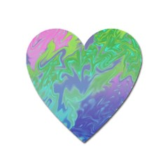 Green Blue Pink Color Splash Heart Magnet by BrightVibesDesign