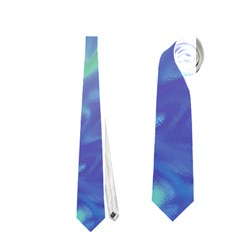 Green Blue Pink Color Splash Neckties (one Side)  by BrightVibesDesign