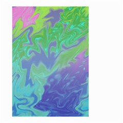 Green Blue Pink Color Splash Small Garden Flag (two Sides) by BrightVibesDesign