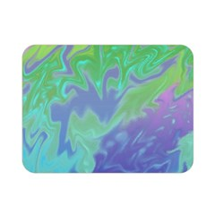 Green Blue Pink Color Splash Double Sided Flano Blanket (mini)  by BrightVibesDesign