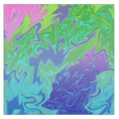 Green Blue Pink Color Splash Large Satin Scarf (square) by BrightVibesDesign