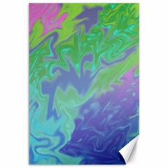 Green Blue Pink Color Splash Canvas 12  X 18   by BrightVibesDesign