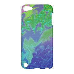Green Blue Pink Color Splash Apple Ipod Touch 5 Hardshell Case by BrightVibesDesign