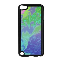 Green Blue Pink Color Splash Apple Ipod Touch 5 Case (black) by BrightVibesDesign