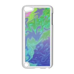 Green Blue Pink Color Splash Apple Ipod Touch 5 Case (white) by BrightVibesDesign