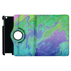 Green Blue Pink Color Splash Apple Ipad 2 Flip 360 Case by BrightVibesDesign