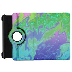 Green Blue Pink Color Splash Kindle Fire Hd Flip 360 Case by BrightVibesDesign
