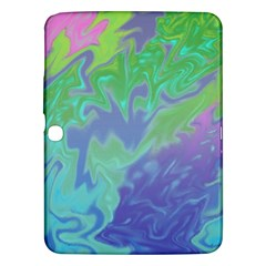 Green Blue Pink Color Splash Samsung Galaxy Tab 3 (10 1 ) P5200 Hardshell Case  by BrightVibesDesign