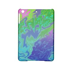 Green Blue Pink Color Splash Ipad Mini 2 Hardshell Cases by BrightVibesDesign