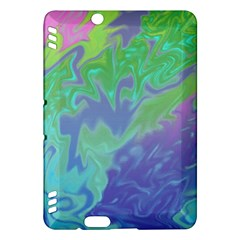 Green Blue Pink Color Splash Kindle Fire Hdx Hardshell Case by BrightVibesDesign