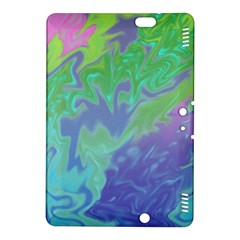 Green Blue Pink Color Splash Kindle Fire HDX 8.9  Hardshell Case by BrightVibesDesign