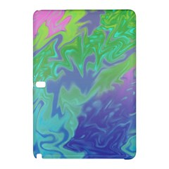 Green Blue Pink Color Splash Samsung Galaxy Tab Pro 12 2 Hardshell Case by BrightVibesDesign