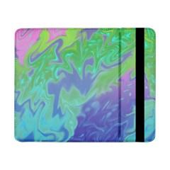 Green Blue Pink Color Splash Samsung Galaxy Tab Pro 8 4  Flip Case by BrightVibesDesign