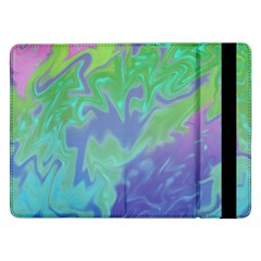 Green Blue Pink Color Splash Samsung Galaxy Tab Pro 12 2  Flip Case by BrightVibesDesign