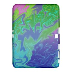 Green Blue Pink Color Splash Samsung Galaxy Tab 4 (10 1 ) Hardshell Case  by BrightVibesDesign